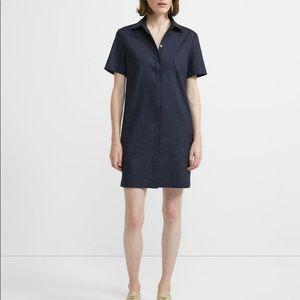 Theory Button Front Shirt Dress